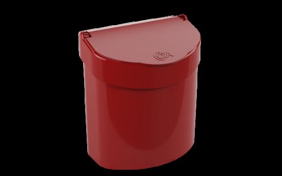 Afbeeldingen van COZA 2.7L AFVALEMMER RED BOLD